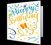 Confetti Birthday greeting card