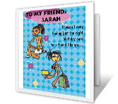 Coolest Friend greeting card