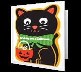 Cuddly-Cute Cat greeting card