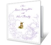 Dear Daughter and Family greeting card