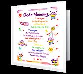 Dear Mommy... greeting card