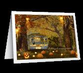 Enchanting Halloween greeting card