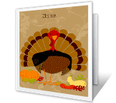 Enjoy Thanksgiving greeting card