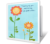 Feel Better x 3 greeting card