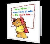 First Grade Is Fun! greeting card