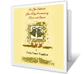 Forty Years Together greeting card