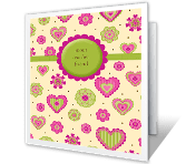 From Your Daughter, Mom greeting card