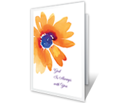 God is Always With You greeting card