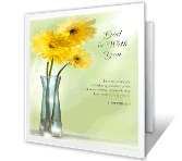 God is With You greeting card