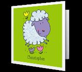 God's Little Lamb greeting card
