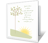 God's Love greeting card