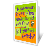 Halloween Riddle greeting card