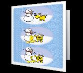Hap-pee Holidays greeting card