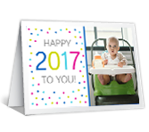 Happy and Healthy New Year Add-a-Photo greeting card
