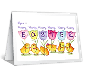 Happy, Happy Easter greeting card