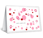 Happy Hearts Day greeting card