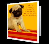 Hard To Say Goodbye! greeting card
