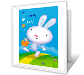 Hippitty Hoppitty Easter greeting card