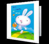 Hippitty Hoppitty Easter greeting card