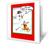 Holiday Silliness greeting card