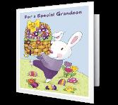 Hugs for Grandson greeting card