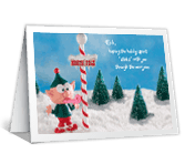Humorous Elf greeting card