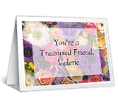 I Value Your Friendship greeting card