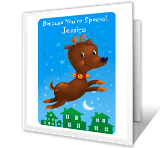 Jingle-bell Jolly greeting card