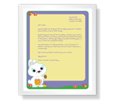 Letter from the Easter Bunny stationery