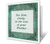 Loss of Brother greeting card