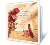 Love for Daughter greeting card
