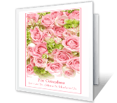 Love for Grandma greeting card