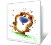 Love You Top to Bottom greeting card