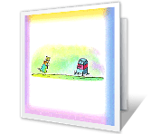 Mailbox Chase greeting card