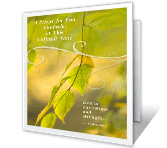 May God Give You Strength greeting card