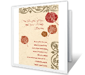 May Your Family Be Blessed greeting card