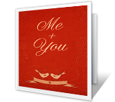 Me and You greeting card
