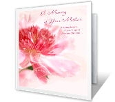 Memories of Mother greeting card