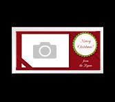 Merry Christmas 4 x 8 photo card greeting card