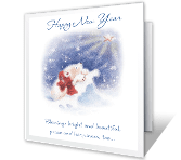 New Year Blessings greeting card