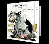No Bull! greeting card