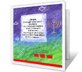 Of Different Faiths greeting card