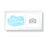 Oh Boy We're Expecting - 4 x 8 Photo Card announcement