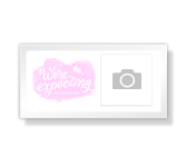 Oh Girl We're Expecting - 4 x 8 Photo Card announcement