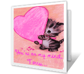 On My Mind, In My Heart greeting card