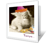 Paw-lickin' Good greeting card