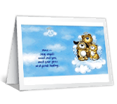 Peace and Comfort greeting card