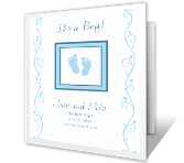 Precious Baby Boy Moments greeting card