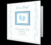 Precious Baby Boy Moments greeting card