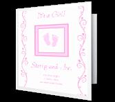 Precious Baby Girl Moments greeting card